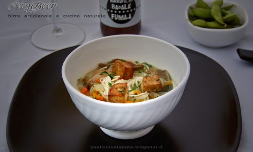Veg&Beer #4: noodles con funghi shiitake e tofu affumicato