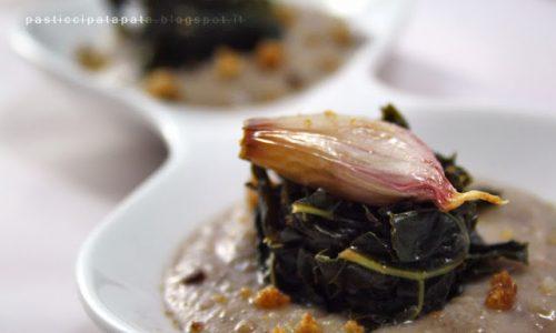 Macco di fave con cavolo nero piccante
