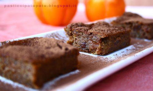 Quadrotti di cachi e grano saraceno al cacao (glutenfree)