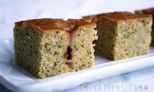 Torta senza glutine (e senza latte) con papavero e Fiordifrutta ai mirtilli rossi