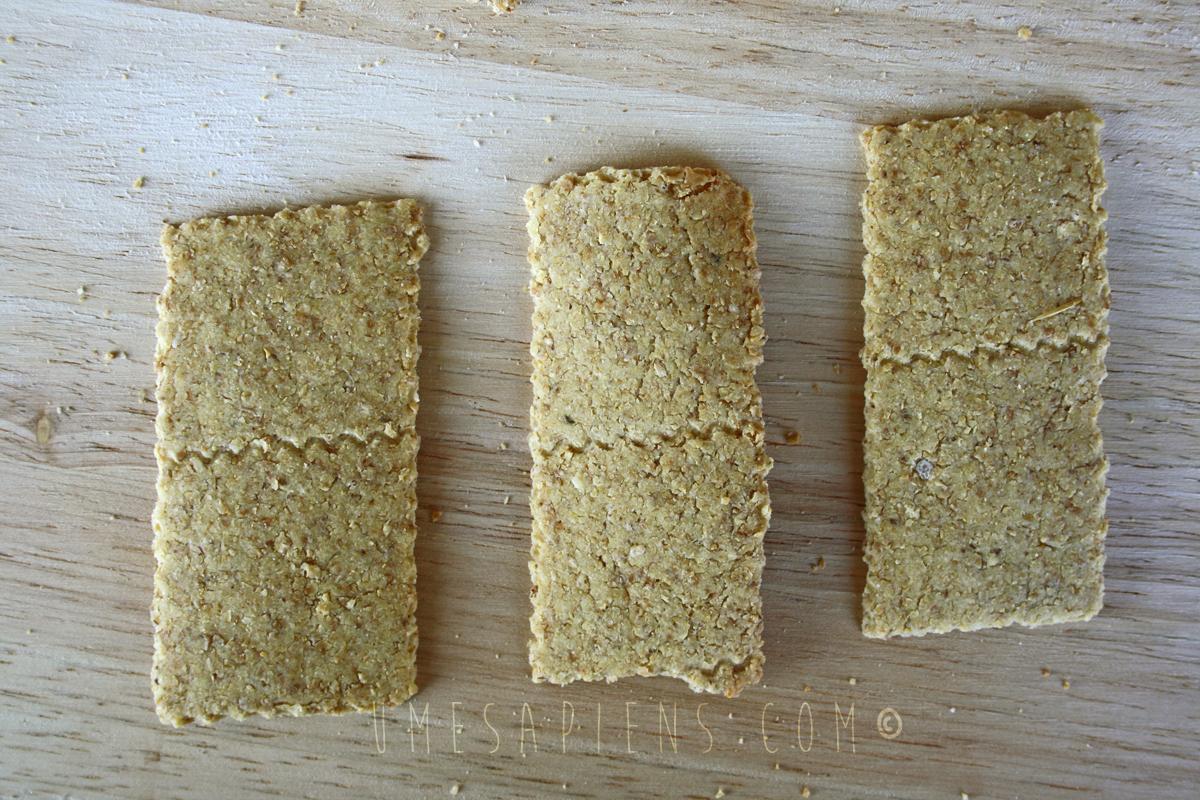 crackers di okara al sesamo