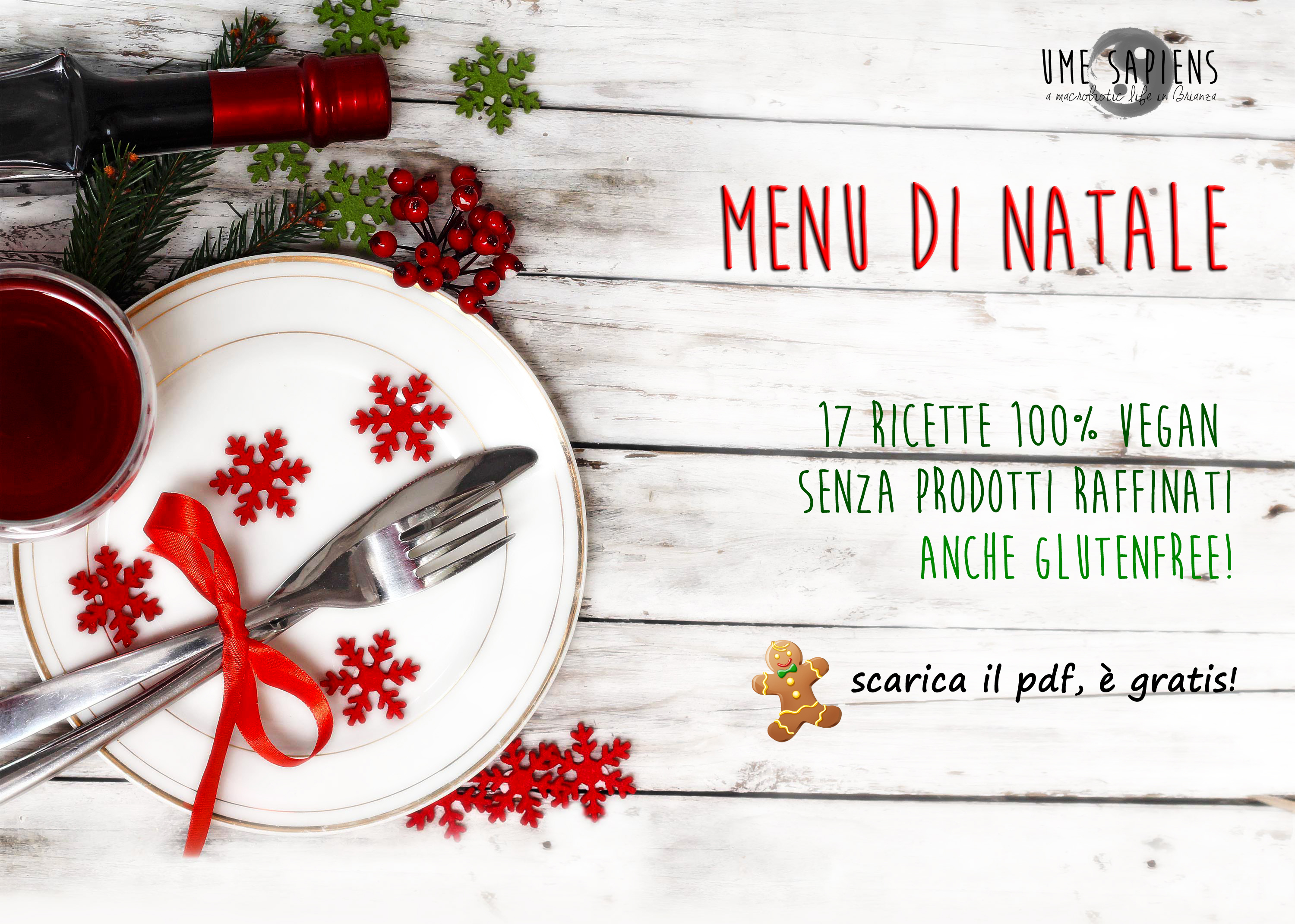 Menu natale vegan glutenfree
