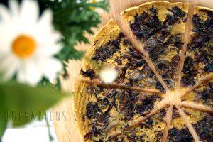 Frittata con radicchio e curcuma (con pasta madre)