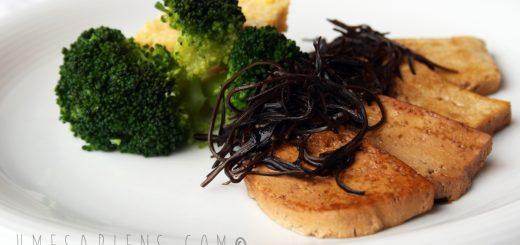 come cucinare il tofu con alghe arame