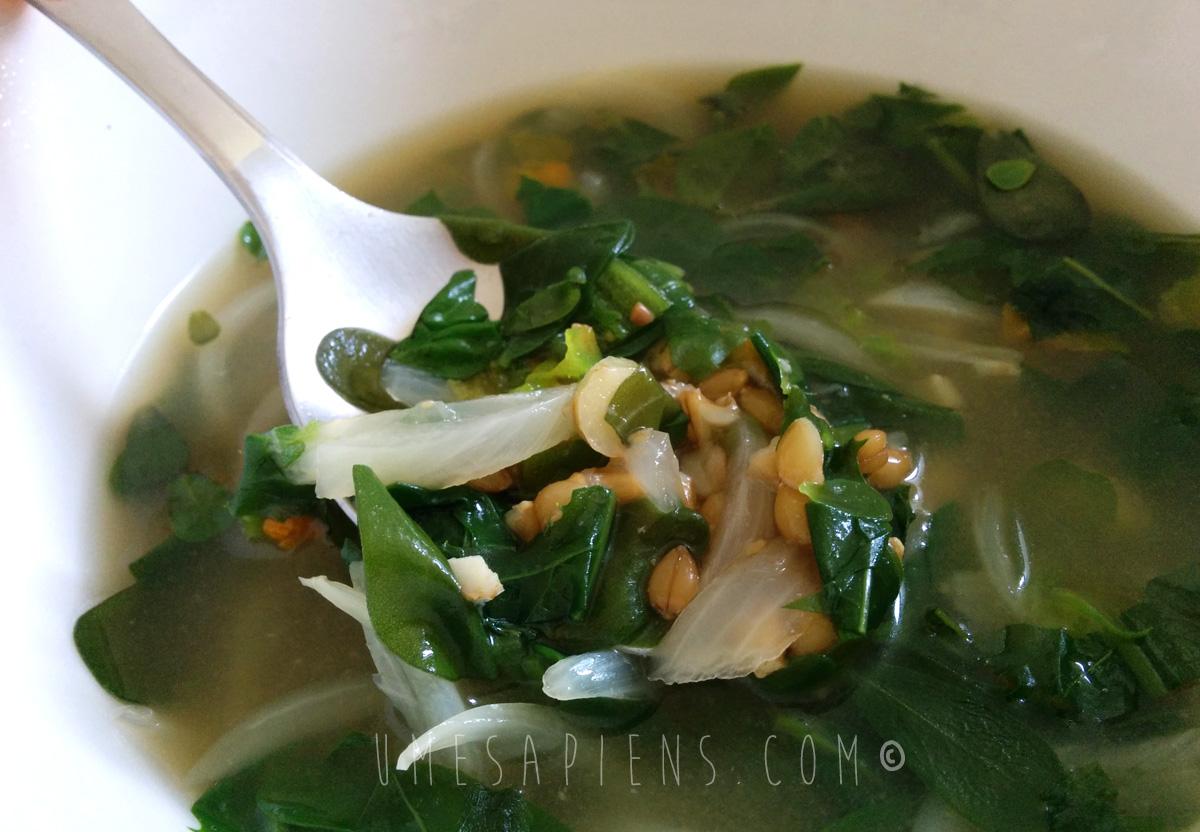 zuppa di erbe selvatiche