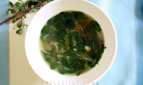 Erbe selvatiche in cucina: una zuppa povera per la semplicità