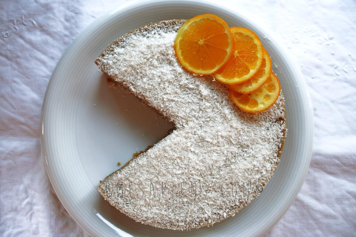 cheesecake vegan cocco e carruba