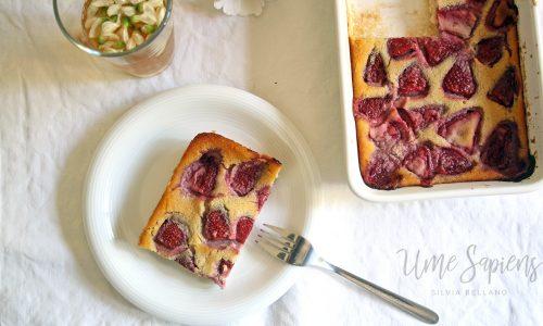 Clafoutis di fragole (vegan e senza glutine)