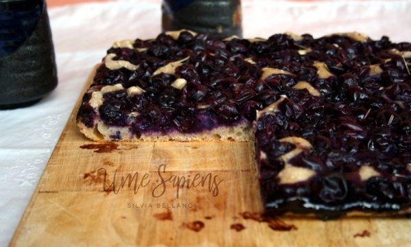 Focaccia all'uva fragola con pasta madre